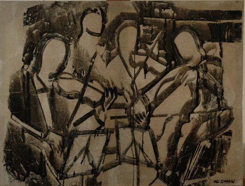 Chamber music-92 x122 cm