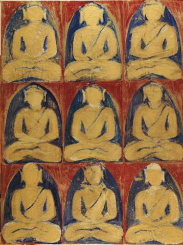 Nine Buddahs from  summer palace-122 x92 cm