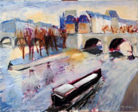 Paris la péniche-81 x102 cm