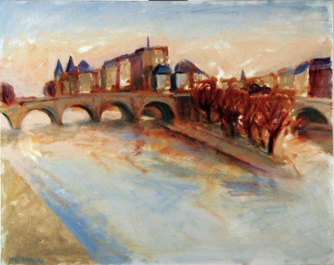 Paris Pont neuf-81 x102 cm