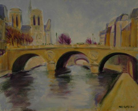 Paris Pont St Michel-61 x76 cm