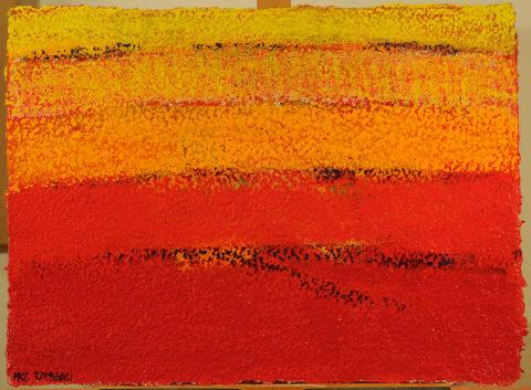 Hawker Ochre Landscape - 62,56x73cm